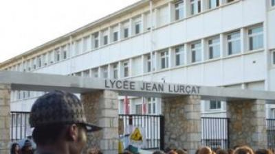 Entrada del liceu Jean Lurçat a Perpinyà. EL PUNT
