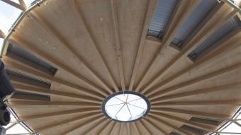 La cúpula de Les Arenes , es va inaugurar la setmana passada ROBERT RAMOS