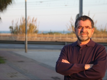 El cap de llista d'ICV-EUiA, ALFONSO BARRERAS, A LA PLAÇA DE CAN FITÓ G.A