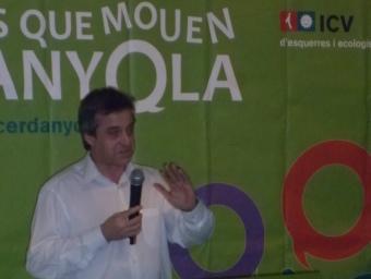 Antoni Morral presenta a l'Ateneu els resultats de la votació de llista oberta ICV-EUIA