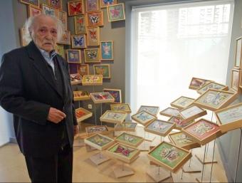 Jaume Muxart, ahir, al seu Espai d'art i creació contemporanis, ubicat a la Casa Par de Martorell JUANMA RAMOS