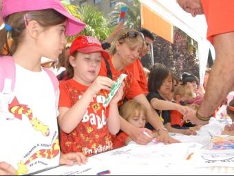 Un taller de la Trobada d'escoles de l'edició anterior. ARXIU