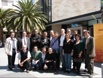 Foto de família de tots els candidats d'ERC al Baix Penedès.