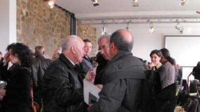 Pierre Estève, conseller general del cantó de Sant Pau de Fenollet, al Saló dels vins de la Fenolleda.
