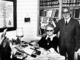 Ferran de Pol al costat de la seva dona l'ecriptora Essylt T. Lawrence
