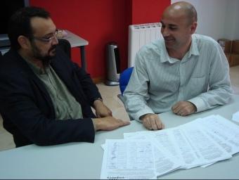 Agustí Cerdà i Joan de Déu Martines, amb les signatures. CEDIDA