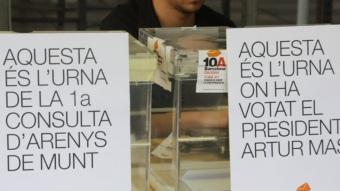 Les urnes d'Arenys i on va votar el president de la Generalitat, Artur Mas ACN