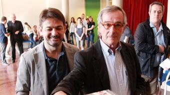 Xavier Trias ha votat acompanyat d'Oriol Pujol ANDREU PUIG