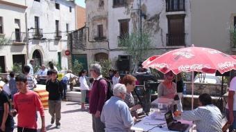 La plaça de Catalunya va ser escenari, ahir, de la consulta sobiranista i dels diversos actes populars O. MAYMÓ