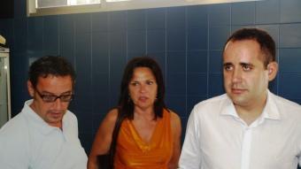 Jorge Alarte junt amb Eduardo Gómez (alcalde Villar) i Carme Martínez.