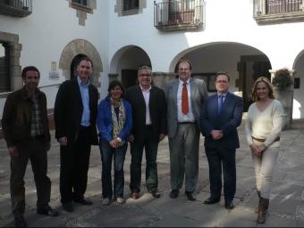 D'esquerra a dreta , els candidats Caldeira, Acero, Balliu, Pera, Fors, Vinyes i Quintero. E.F