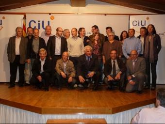 Tots els alcaldables de CiU de la Garrotxa i els presidents comarcals d'UDC i de CDC. J.C: