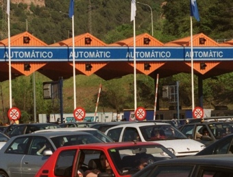 Un peatge a les carreteres catalanes.