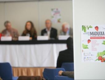 Presentació de la VIII Diada de la Maduixa ahir a l'hotel escola Gran Sol de Sant Pol de Mar. PITU ESTOL