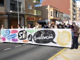 Imatge del clima existent a les trobades d'escoles en valencià. ESCORCOLL