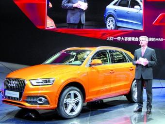 Rupert Stadler, president d'Audi, durant la presentació ahir del nou model de la firma, el Q3 ARXIU