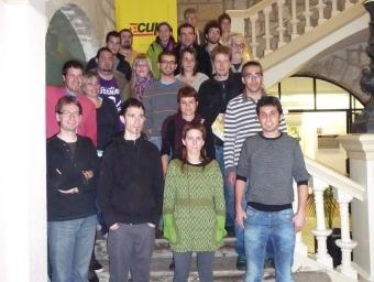 Imatge els candidats de la CUP que es presentaven a la comarca C.M