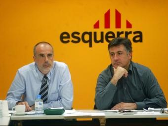 Joan Ridao i Joan Puigcercós, els dos màxims dirigents actuals d'ERC QUIM PUIG / ARXIU