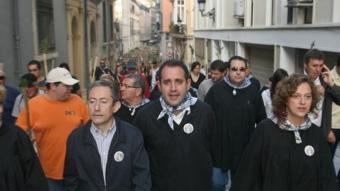 El socialista Jorge Alarte, aquest matí a Alacant. REDACCIÓ