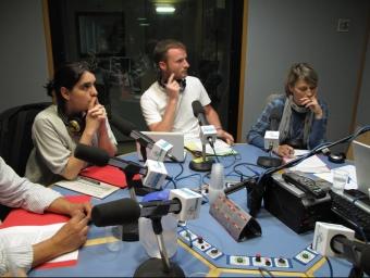 Marta del Castillo, d'ERC, Francesc Colomé del PSC i Susanna Mir, de CiU, al debat.