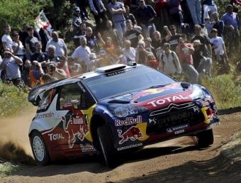 Loeb, en la primera etapa del Ral·li de Sardenya EFE