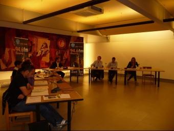 Un moment del debat entre els candidats de les diferents formacions de Pineda. T.M
