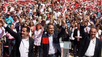 José Luis Rodríguez Zapatero en el míting de València ACN