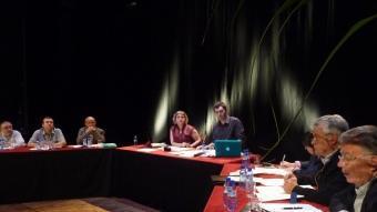 El debat de candidats organitzat per Ràdio Tiana, fa uns dies a la sala Albéniz del Casal I. M