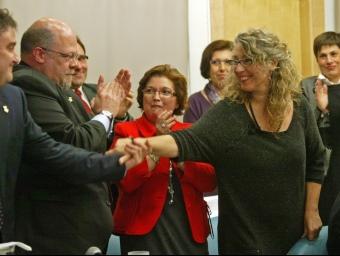 L'alcaldessa de Sant Feliu de Llobregat i alcaldable del PSC J.RAMOS