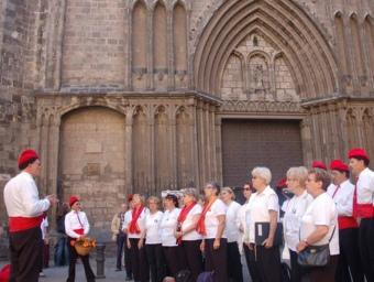 Els Cantants de la Fossella en la seva actuació a Barcelona. CORS DE CLAVÉ