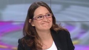 La candidata de Compromís, Mónica Oltra. REDACCIÓ