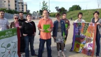 Els candidats d'ICV-EUiA al Vilar A. Mercader