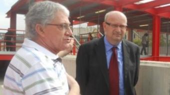 Ramon, reunit amb Antoni Bosch i Josep Anton Doblas a l'estació de tren aquest dijous EL PUNT