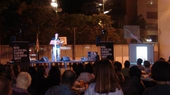 Vista general de l'acte final de campanya de la CUP de Girona, durant el parlament de Jordi Navarro L. ARTIGAS
