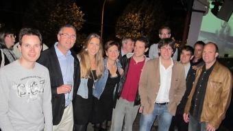 Carles Puigdemont rep el suport del partit. CiU va celebrar la Festa de despenjada del cartell electoral de manera virtual a la discoteca Buddha de Pedret. JOAN SABATER