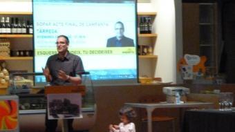 ERC va fer un míting-sopar al Gat del Rosal per cloure la campanya. E.P