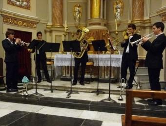 En la setmana musical van intervenir un grup de trompetes. ESCORCOLL