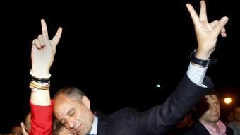 Rita Barberá i Francisco Camps celebren a València la victòria del PP en les eleccions a Corts Valencianes i a l'Ajuntament de la ciutat EFE