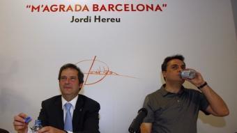 Hereu i Martí, en una reunió de la Federació del PSC de Barcelona posterior a la derrota electoral del 22 de maig ORIOL DURAN