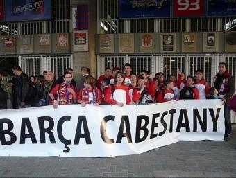 La Penya Barça de Cabestany al Camp Nou.