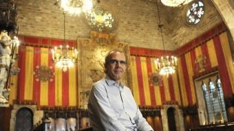 Ricard Gomà , fotografiat al Saló de Cent de l'Ajuntament de Barcelona aquesta setmana JOSEP LOSADA