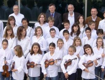 La Jove Orquestra del Gironès, el dia de la presentació oficial a Fornells de la Selva. ARXIU