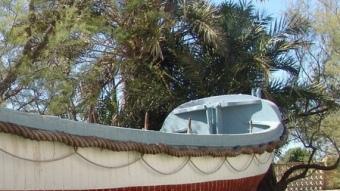 El bot de salvament Víctor Rojas, al Museu del Mar de Vilanova.  R.M.