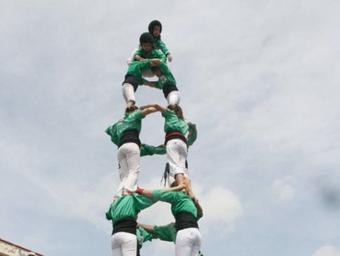 El 4de7 dels Castellers del Riberal aconseguit durant l'Ident'Cat 2011. AIRE NOU