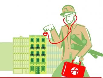 Els tríptics informatius presenten els aparelladors com a metges de capçalera d'edificis.