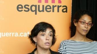 La candidat d'ERC a Girona, Blanca Palmada, en una roda de premsa el passat 7 de juny JOAN SABATER