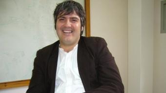 Jordi Martí, ahir a l'ajuntament. M.V