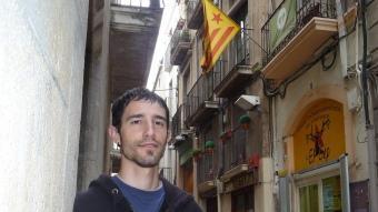 Llorenç Casanova fotografiat fa dies al carrer de Santa Maria A.M