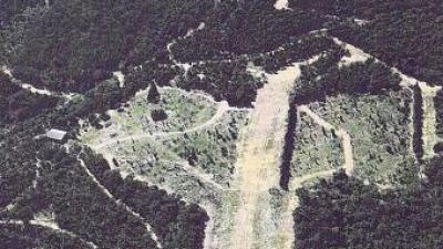 Vista general de l'àrea on es farà el miniaeròdrom de Llauró.
