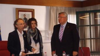 Antoni Guinó en el moment de ser proclamat alcalde. J.M.S
